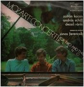 LP - Mozart - Concerti for two and three Pianos,, kocsis, schiff, ranki, Hungarian state orchestra, ferencsik