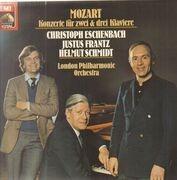 LP - Mozart - Konzerte für zwei & drei Klaviere; Helmut Schmidt (der Ex-Kanzler am Klavier), Ch. Eschenbach, J. Frantz