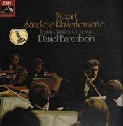 LP-Box - Mozart - Sämtliche Klavierkonzerte; English Chamber Orchestra, Barenboim - 12 LPs