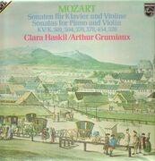 Double LP - Mozart - Sonaten für Klavier und Violine,, Clara Haskil, Arthur Grumiaux - gatefold