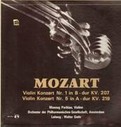 LP - Mozart - Violin Konzert Nr.1& Nr.5,, Manoug Parikian-Violine, Orch der Philh Gesellschaft, Amsterdam, Ltg W.Goehr