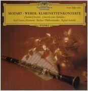 LP - Mozart, Weber - Klarinettenkonzerte,, Karl Leister, Berliner Philh., R. Kubelik
