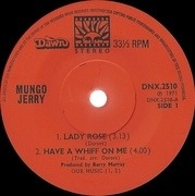 7'' - Mungo Jerry - Lady Rose