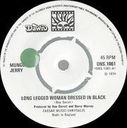 7'' - Mungo Jerry - Long Legged Woman Dressed In Black