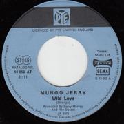 7'' - Mungo Jerry - Wild Love