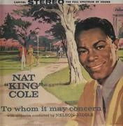 LP - Nat King Cole - To Whom it May Concern