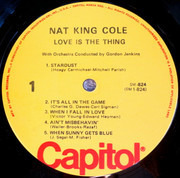 LP - Nat King Cole With Gordon Jenkins And His Orchestra - Love Is The Thing