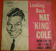 7inch Vinyl Single - Nat King Cole - Looking Back - Knock-Out center