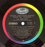 LP - Nat King Cole - Those Lazy-Hazy-Crazy Days Of Summer