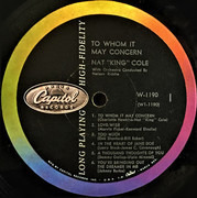 LP - Nat King Cole - To Whom It May Concern - High-Fidelity