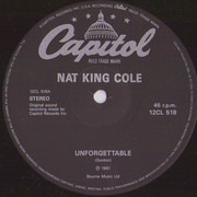 12inch Vinyl Single - Nat King Cole - Unforgettable