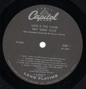 LP - Nat 'King' Cole - Love Is The Thing