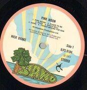 LP - Nick Drake - Pink Moon - Original British, Pink Rim Island