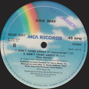 12inch Vinyl Single - One Way - Don't Think About It
