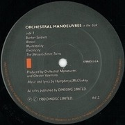 LP - Orchestral Manoeuvres In The Dark - Orchestral Manoeuvres In The Dark - 1st Version