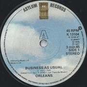 7inch Vinyl Single - Orleans - Business As Usual