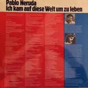 LP - Pablo Neruda - Ich Kam Auf Diese Welt Um Zu Leben