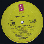 12'' - Patti LaBelle - If Only You Knew - PROMO