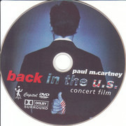 DVD - Paul McCartney - Back In The U.S. - Concert Film - Dolby Surround. Still Sealed