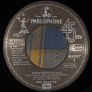 7inch Vinyl Single - Paul McCartney - C'mon People