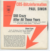 7inch Vinyl Single - Paul Simon - Still Crazy After All These Years