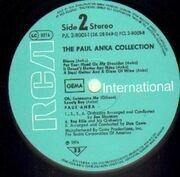 Double LP - Paul Anka - The Paul Anka Collection
