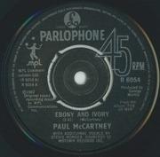 7'' - Paul McCartney - Ebony And Ivory - Push-out centre
