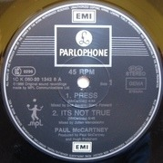 12'' - Paul McCartney - Press