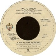7'' - Paul Simon - Late In The Evening