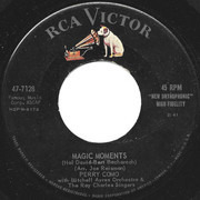 7inch Vinyl Single - Perry Como With Mitchell Ayres And His Orchestra & The Ray Charles Singers - Magic Moments / Catch A Falling Star