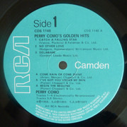 LP - Perry Como - Como's Golden Hits