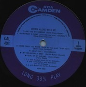 LP - Perry Como - Dream Along With Me