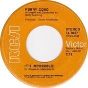 7inch Vinyl Single - Perry Como - It's Impossible