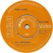7'' - Perry Como - It's Impossible