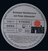 LP - Peter Alexander - Schlager-Rendevouz Mit Peter Alexander