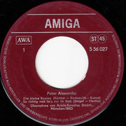 7inch Vinyl Single - Peter Alexander - Peter Alexander - red Label