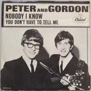 7'' - Peter & Gordon - Nobody I Know