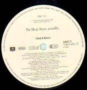 2 x 12'' - Pet Shop Boys - Actually - Album +12'