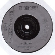 7'' - Pet Shop Boys - So Hard