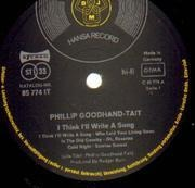 LP - Phillip Goodhand-Tait - I Think I'll Write A Song