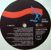 LP - Pink Floyd - A Collection Of Great Dance Songs - GDR