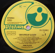 LP - Pink Floyd - Obscured By Clouds