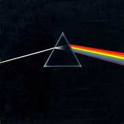 LP - Pink Floyd - The Dark Side Of The Moon - Winchester Pressing, Posters and 1 sticker