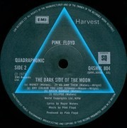 LP - Pink Floyd - The Dark Side Of The Moon - Quadraphonic