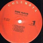LP - Pink Floyd - The Final Cut - RED LABELS