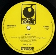 LP - Pink Floyd - Relics - Sounds Superb