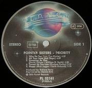 LP - Pointer Sisters - Priority