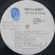 LP - Pointer Sisters - That's A Plenty
