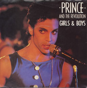 7inch Vinyl Single - Prince And The Revolution - Girls & Boys - Blue Injection Print Labels