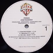 LP - Prince - Controversy - + limited  Poster